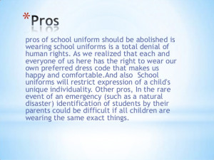 Persuasive Essay: No Uniform in Schools