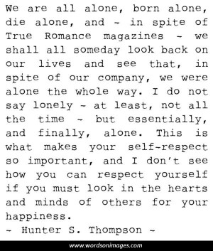 Hunter s thompson quotes on life