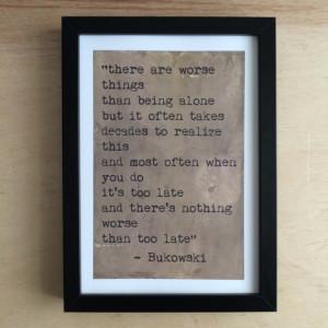 Charles Bukowski quote -