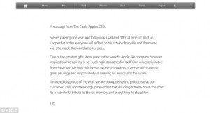 Mother 1 Year Death Anniversary Quotes ~ Steve Jobs: Apple pays ...