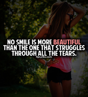 beautiful, girl, quote, smile, text