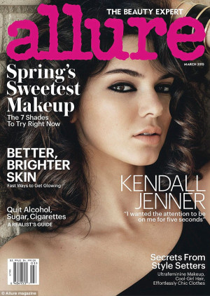 Kendall Jenner covers Allure: Tattoos are 'bumper stickers on a ...