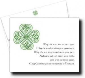 Thank You for Your Sympathy Note Cards Irish May The Road Rise
