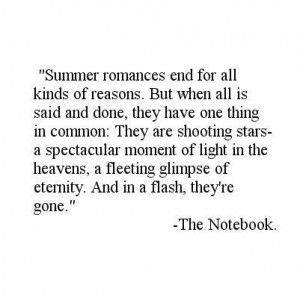 The Notebook summer romance quote