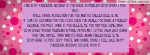 THIS IS MY FACEBOOK ACCOUNT IF YOU HAVE Profile Facebook Covers