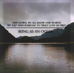 ... this image include: Lyrics, nature, quote, being as an ocean and baao