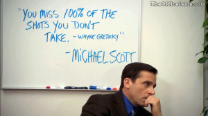 Michael Scott Wayne Gretzky quote Color Wallpaper The Office