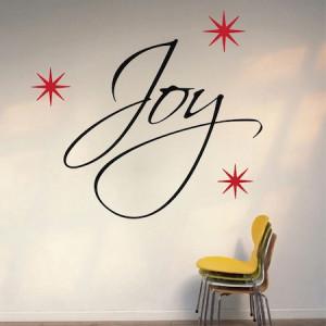 Joy Christmas Wall Quote