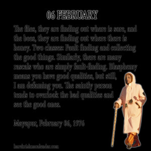 ... quotes of Srila Prabhupada, which he spock in the month of February