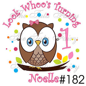 Owl-Look-Whoos-Turning-1-One-Whos-first-1st-2nd-3rd-Birthday-Shirt-t ...