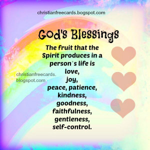 Nice christian free card about the fruit of the Spirit. Free christian ...