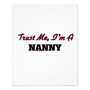 Trust me I'm a Nanny Flyer Design