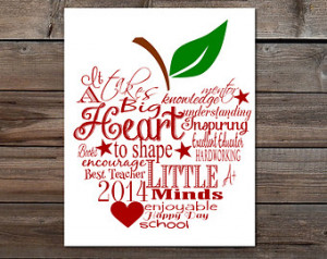 ... minds Apple word art Quote DIY printable print gift retirement gift