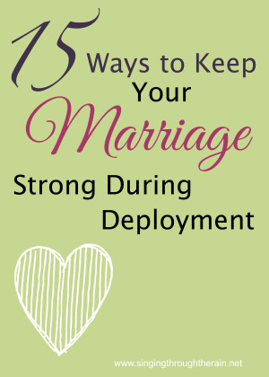 Unique Ways to Keep Your Marriage Strong During Deployment: