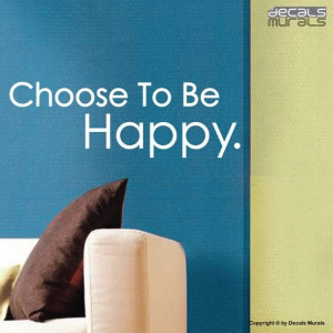 wall decal choose to be happy quote vinyl by decalsmurals on etsy $ 15 ...