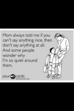 Always the introvert.