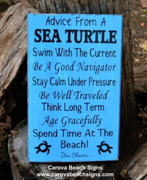 Marine Life, Advice Ocean Poem Quotes, Beach Sayings on Wood, Beach ...