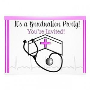 Nursing School Graduation Invitations Announcements