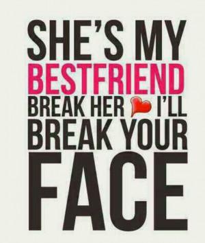 Don't break my friend's heart