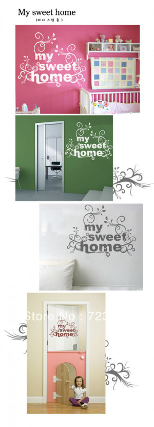 Home Sweet Home Quotes And Sayings My sweet home vinyl wall