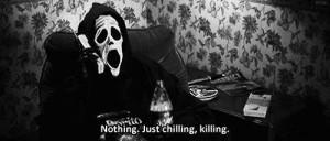 ... white, chilling, film, funny, horror, kill, killing, mask, movie, n