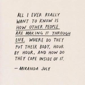 Miranda July Quote