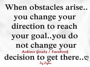 Life Obstacles Quotes When obstacles arise.