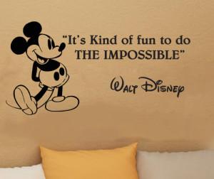 Walt Disney Quote -