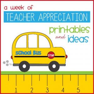 week of teacher appreciation