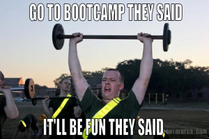 Go to bootcamp they said