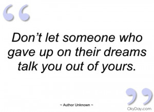 don't let someone who gave up on their author unknown