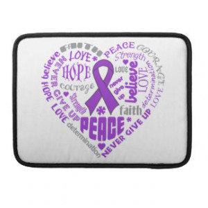 Lupus Awareness Heart Words Sleeve For MacBook Pro