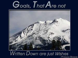 Goals That Are Not Written...