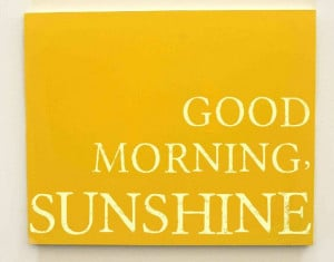 Good Morning Sunshine Typography Canvas, Kids Wall Decor, Kids Quotes ...