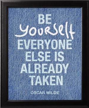 Art poster, Be yourself, Oscar Wilde Quote, Typographic print ...