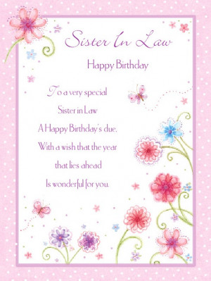 Happy Birthday Sister in Law