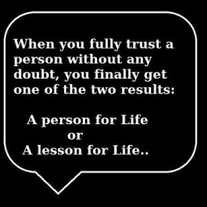 Trust a person without any doubt