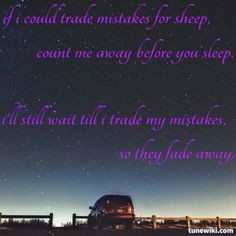 Panic! At The Disco Trade Mistakes lyrics quote More