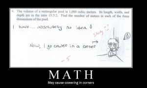 Math Motivational Poster by xStage