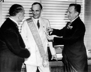 Henry Ford Receiving the Grand Cross of the Supreme Order of the ...