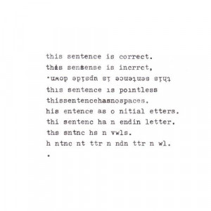 ... more of my typewriter poetry, have a look at my »anachronism« book