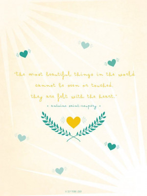 The Little Prince Quote Inspirational Quote Love by MeninaLisboa, $25 ...