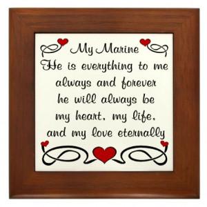 Deployment Gifts > Deployment Living Room > Marine Poem of Love Framed ...