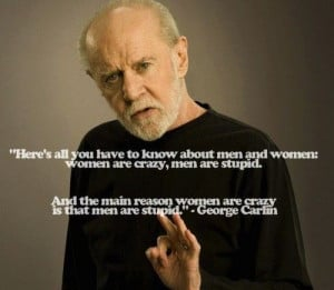 george carlin, men, quote, text, women