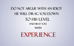 Quotes Idiot Experience