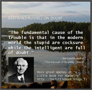 Bertrand Russell Quotes Cocksure
