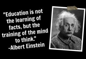 True education requires critical thinking skills.