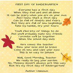 ... Kindergarten Teachers Quotes, Kindergarten Parents Poems, Kindergarten