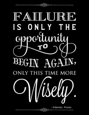At the moment failing feels just like failure to me.