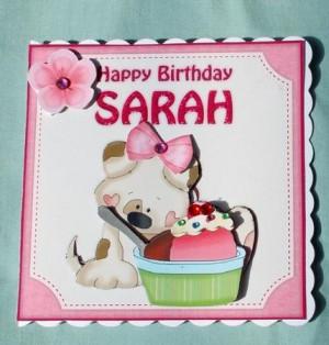 Card Gallery Sarah Birthday